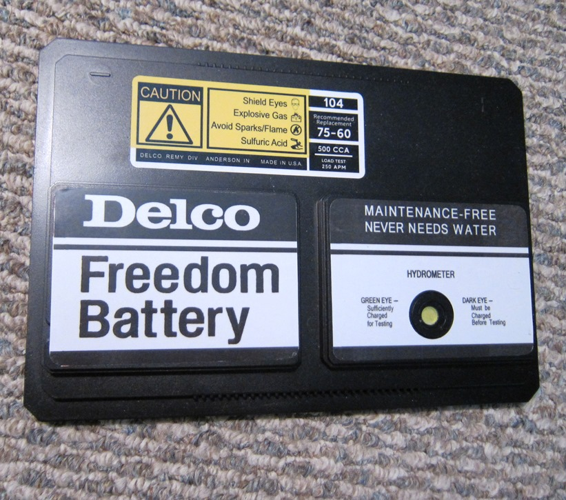 85 442 Delco HD Battery Finished Lid.JPG