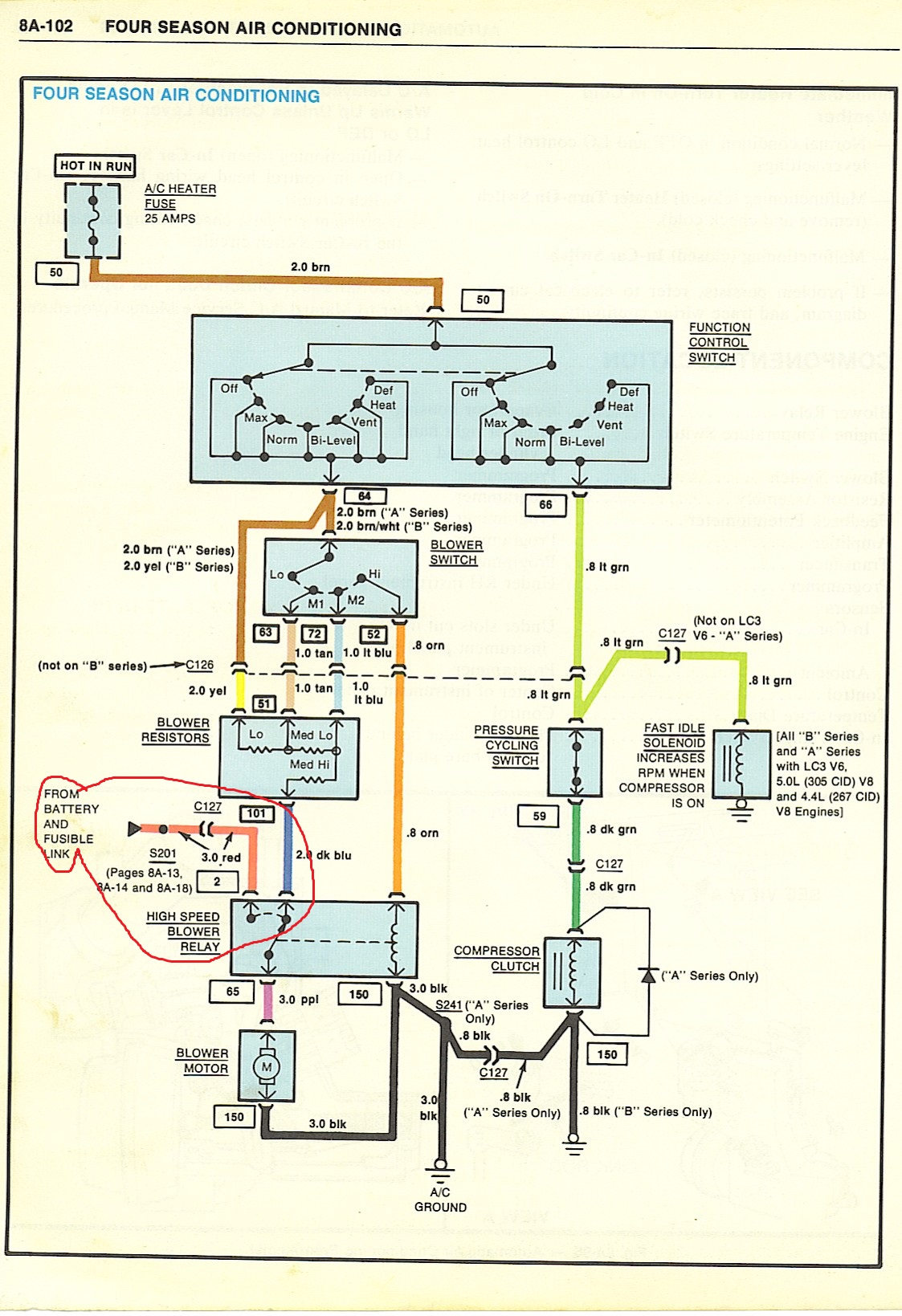 1982 chevy c10 wiring diagram air conditioning 85 blower motor wiring gbodyforum  78  88 general motors a g  85 blower motor wiring gbodyforum