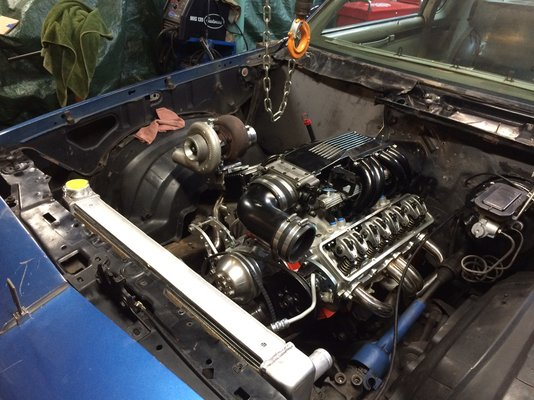 Engine - working on piping and wiring 4-15.jpg