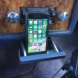 CaliWagon83's Ashtray Hack Charging Cord Hole Test Fit With Phone