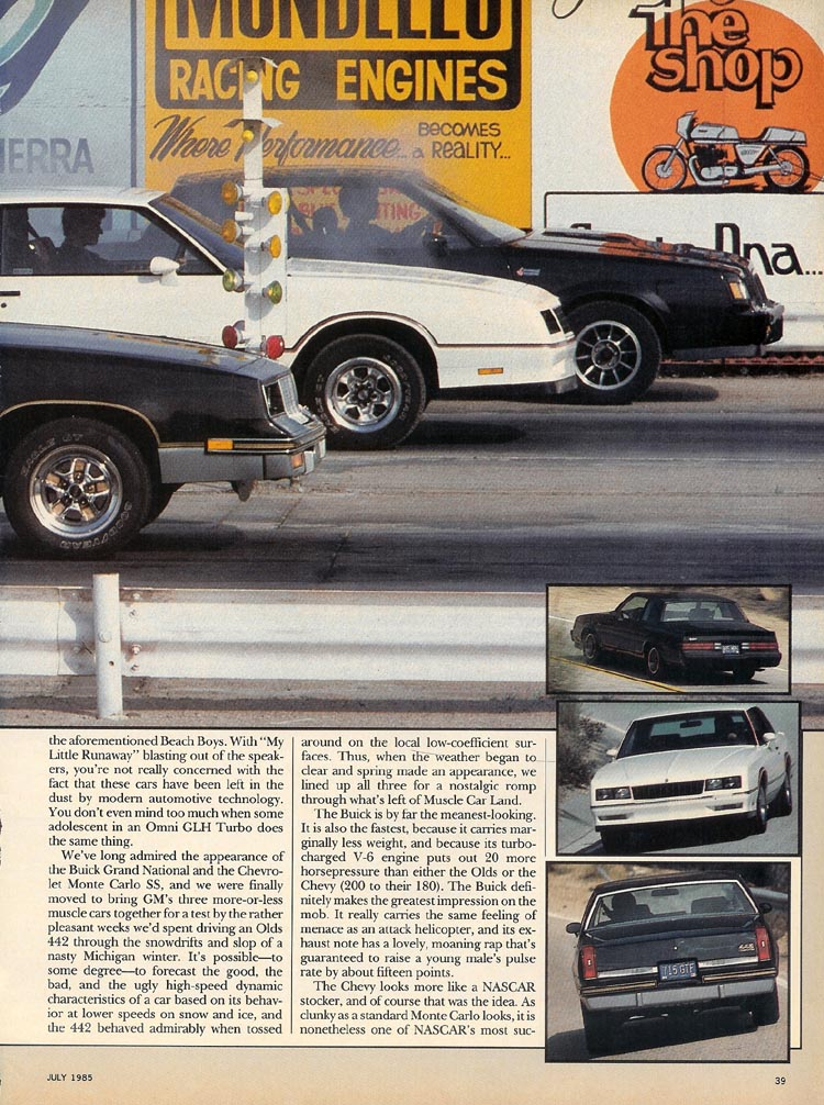 Modern Muscle (p.3) - Monte Carlo SS, Buick Grand National, Olds 442